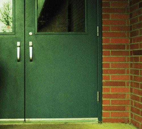 School Door Closed