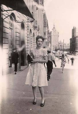 Carol Geller as a young woman