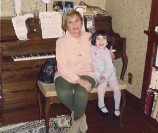 Mommom and me at 4 years old