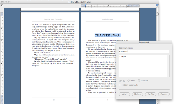 chapter bookmark oldword